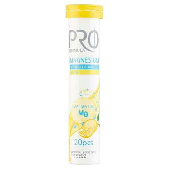 Tesco Pro Formula Magnesium Lemon Flavoured Effervescent Tablets 80 g (20 Tablets)