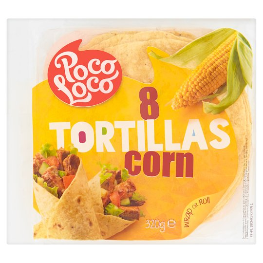Poco Loco Tortilla kukurydziana 320 g (8 sztuk)