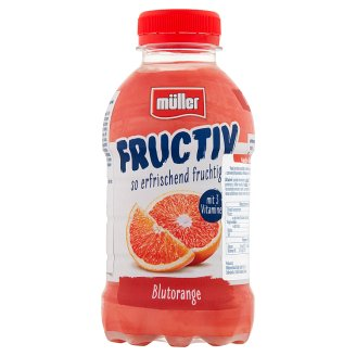 Müller Fructiv Red Orange Fruit Juice and Whey Drink 440 ml