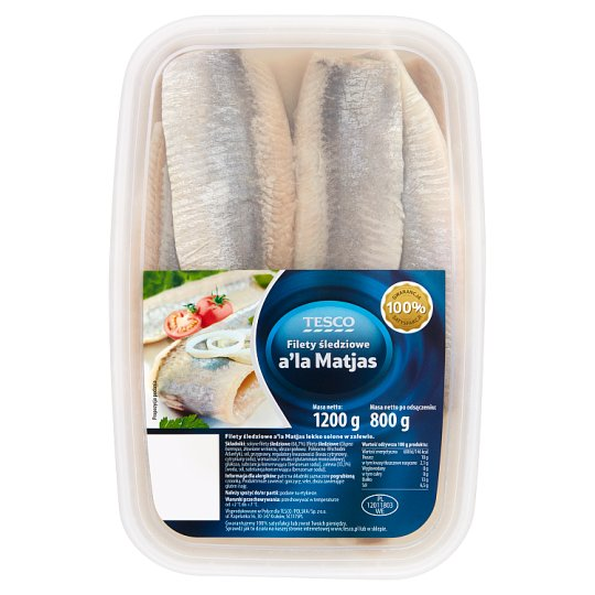 Tesco Herring Fillets a'la Matjas 1200 g