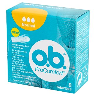 O.B. ProComfort Normal Tampons 8 Pieces