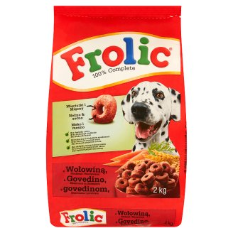 Frolic Complete Food for Adult Dogs with Beef Cereals and Vegetables 2 kg
