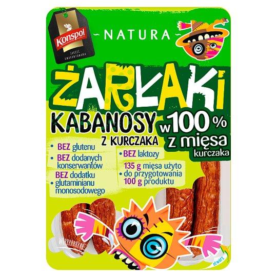 Konspol Natura Żarłaki Kabanosy z kurczaka 100 g