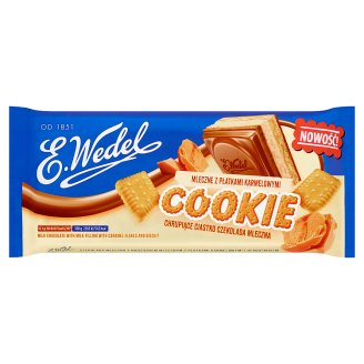 E. Wedel Cookie Milk Chocolate with Milk Filling with Caramel Flakes and Biscuit 290 g