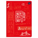 English A5 Squared 60 Pages Notebook