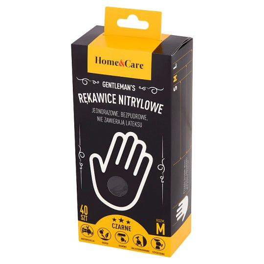 Home&Care Gentleman's Rękawiczki nitrylowe M 40 sztuk