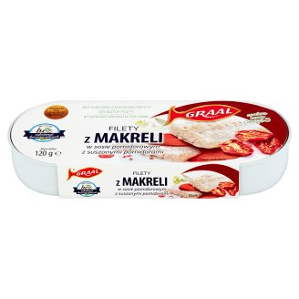 GRAAL Mackerel Fillets in Tomato Sauce with Dried Tomatoes 120 g