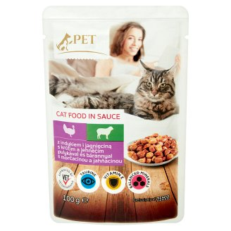 Tesco Pet Specialist Food for Adult Cats with Turkey and Lamb in Sauce 100 g
