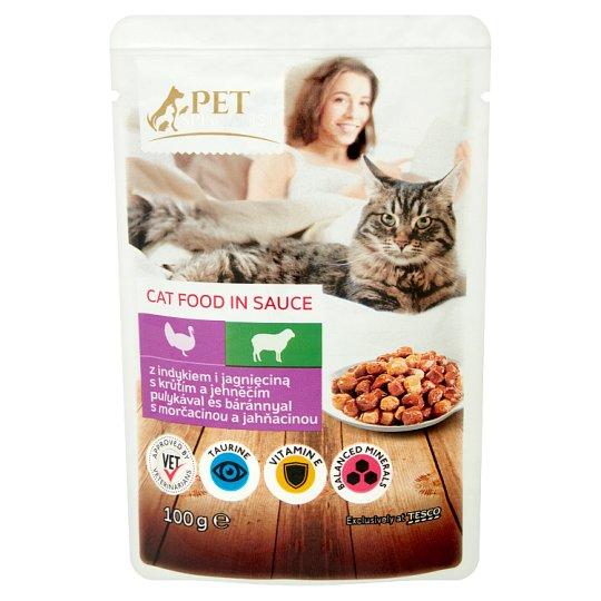 Tesco Pet Specialist Karma dla dorosłych kotów z indykiem i jagnięciną w sosie 100 g