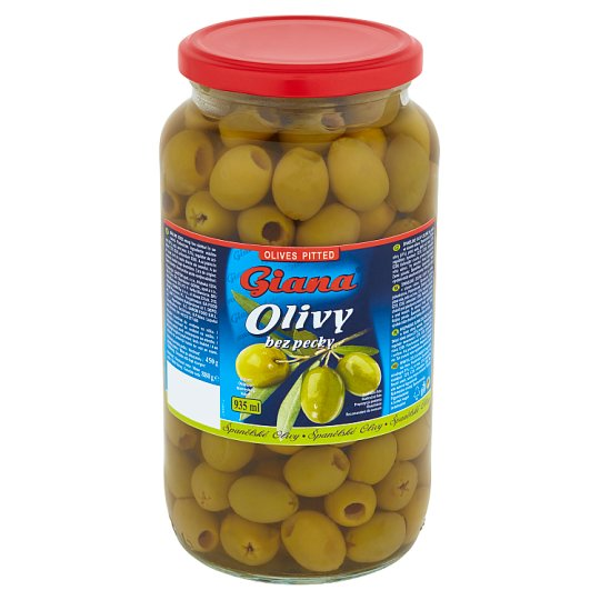 Giana Spanish Green Olives Pitted in Slightly Brine 880 g