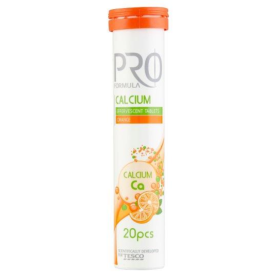 Tesco Pro Formula Calcium Orange Flavoured Effervescent Tablets 80 g (20 Tablets)