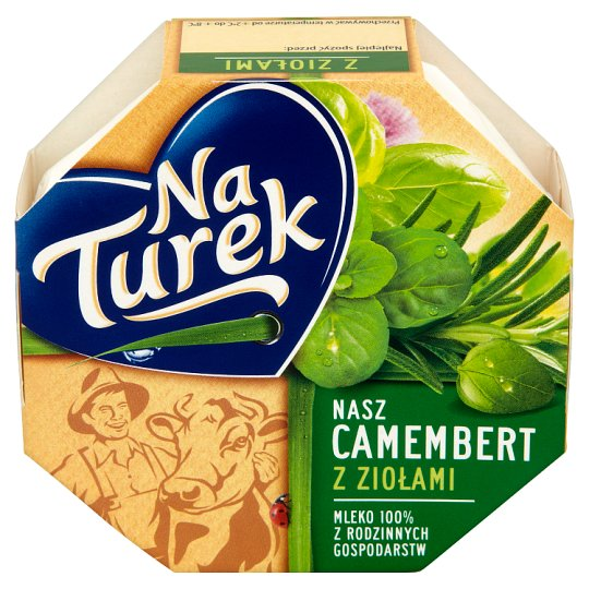 NaTurek Nasz Camembert with Herbs Cheese 120 g
