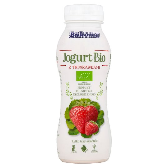 Bakoma Bio Yoghurt with Strawberries 230 g