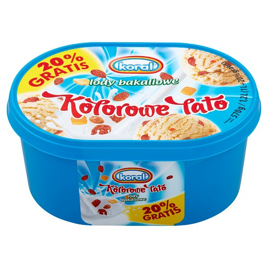 Koral Kolorowe Lato Ice Cream with Raisins and Orange Zest 1.2 L