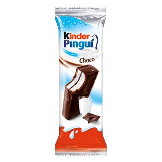 Kinder Pingui Choco Sponge Cake Filled with Milk and Covered with Chocolate 30 g