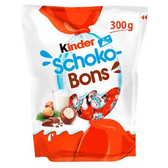 Kinder Schoko-Bons Smakołyk z mlecznym i orzechowym nadzieniem oblany mleczną czekoladą 300 g