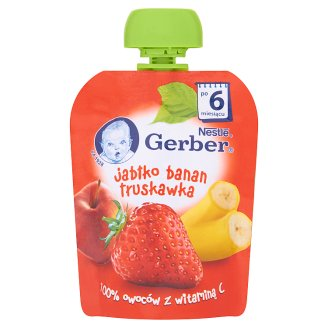 Gerber Apple Banana Strawberry after 6 Months Onwards Dessert 90 g