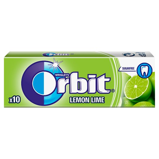Orbit Lemon Lime Sugarfree Chewing Gum 14 g (10 Pieces)