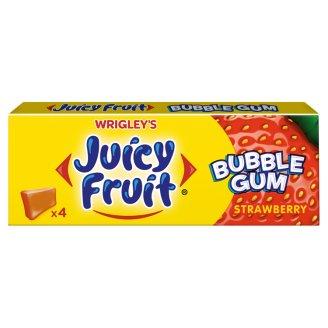 Juicy Fruit Bubble Gum Strawberry Guma do żucia 13,8 g (4 kostki)