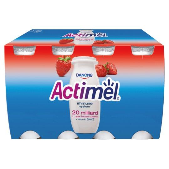 Danone Actimel Strawberry Fermented Milk 800 g (8 Pieces)