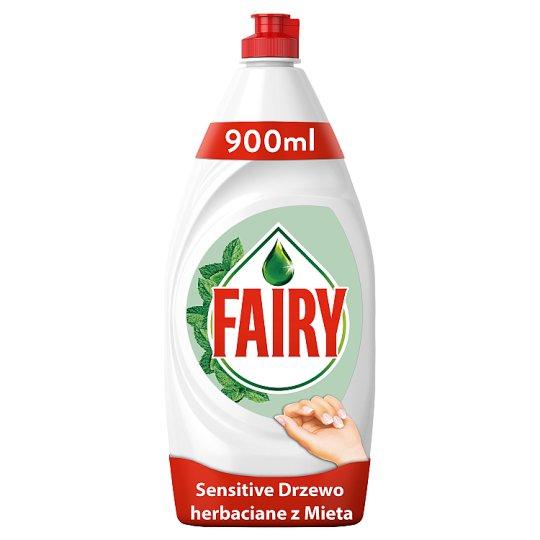 Fairy Sensitive Washing Up Liquid Teatree & Mint 900ml