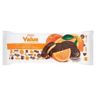 Tesco Value Biszkopty z galaretką o smaku pomarańczowym 130 g