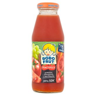 Bobo Frut Pomidorek 100% Sok pomidor winogrona i marchewka po 6 miesiącu 300 ml