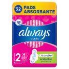 Always Ultra Super Plus Sanitary Pads 32 Pieces