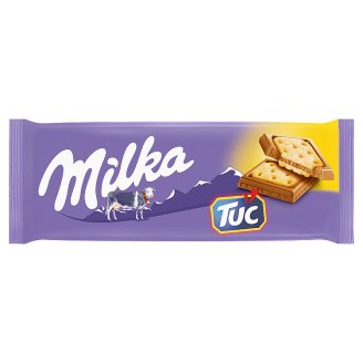 Milka Tuc Alpine Milk Chocolate with Salted Crackers 87 g