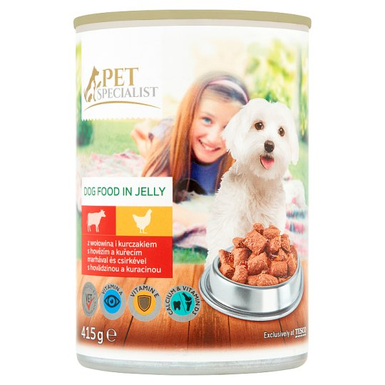 Tesco Pet Specialist Beef and Chicken in Jelly Food for Adult Dogs 415 g
