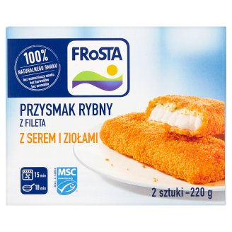 FRoSTA Fish Steaks from Fillet with Cheese and Herbs 220 g (2 Pieces)