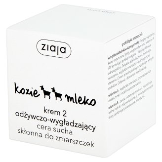 Ziaja Goat's Milk Cream 2 Nutrient-Moisturising for Dry Skin Prone to Wrinkled 50 ml