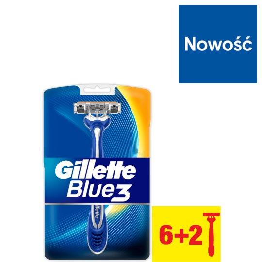 Gillette Blue3 Men's Disposable Razors, 8 Pack