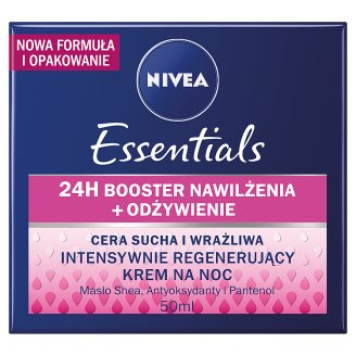 image 1 of NIVEA Essentials Dry and Sensitive Skin Intensive Regenerating Night Cream 50 ml