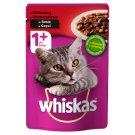 Whiskas 1+ lat Karma pełnoporcjowa z wołowiną w sosie 100 g
