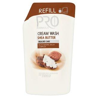 Tesco Pro Formula Shea Butter Kremowe mydło w płynie opakowanie uzupełniające 500 ml