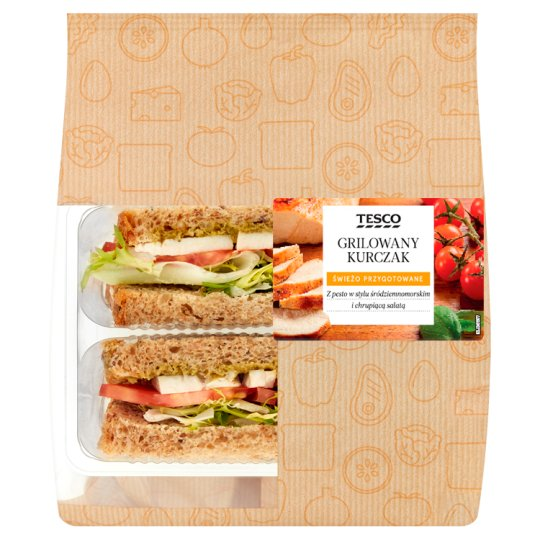 Tesco Grilled Chicken Sandwich 149 g