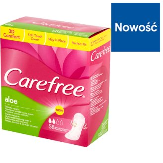 Carefree Aloe Pantyliners 58 Pieces