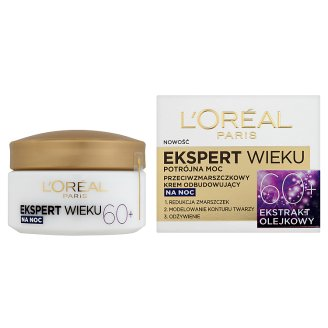 image 2 of L'Oreal Paris Ekspert Wieku 60+ Anti-Wrinkle Rebuilding Night Cream 50 ml