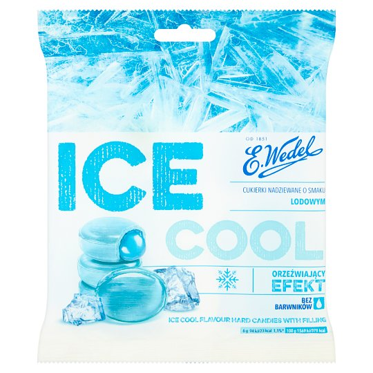 E. Wedel Ice Cool Flavour Hard Candies with Filling 90 g