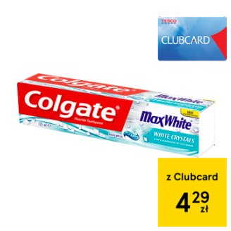 Colgate Max White Crystal Mint Gel Fluoride Toothpaste 125 ml