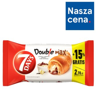 7 Days Doub!e Max Croissant with Cocoa and Vanilla Flavour Creams 110 g