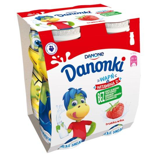 Danone Danonki Strawberry Yoghurt 400 g (4 Pieces)