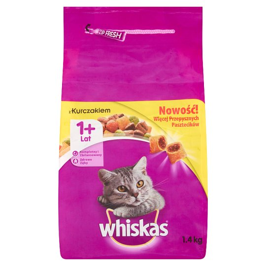 Whiskas 1+ Year Complete Cat Food with Chicken 1.4 kg