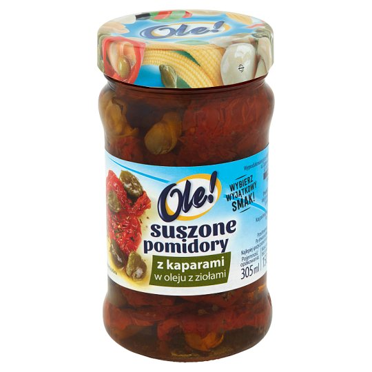 Ole! Dried Tomatoes with Capers in Oil with Herbs 270 g