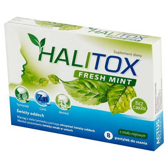 Halitox Fresh Mint Dietary Supplement 8 Pieces