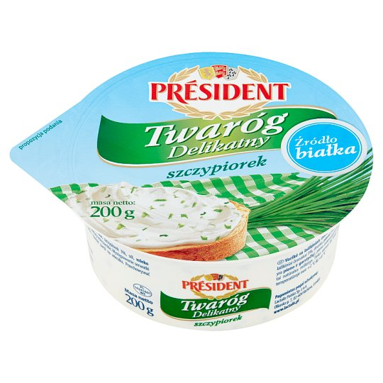 Président Curd Cheese with Chives 200 g