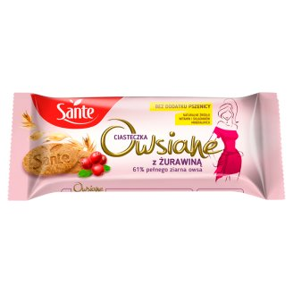 Sante Niezłe Ciacho Oatmeal Cookies with Cranberry 135 g