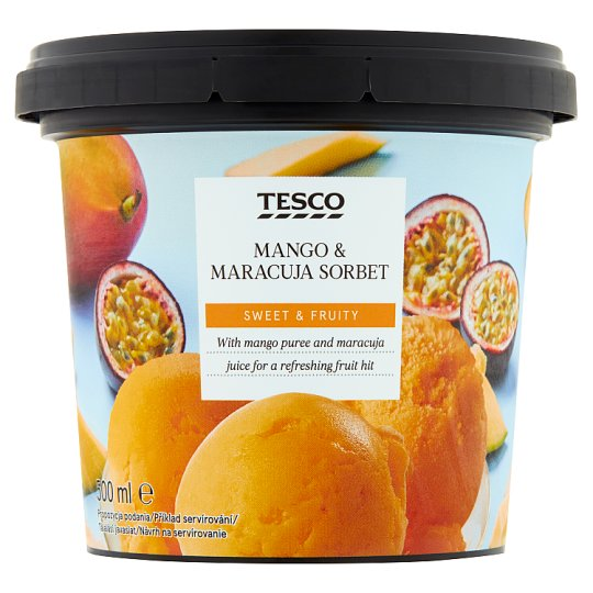 Tesco Sorbet mango-marakuja 500 ml