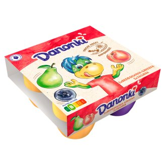 Danone Danonki Mega Peach-Pear Blueberry Cottage Cheese 360 g (4 Pieces)